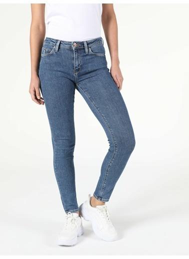 Colin's 759 Lara Orta Bel Dar Paça Super Slim Fit Jean Kadın Jean Pantolon İndigo